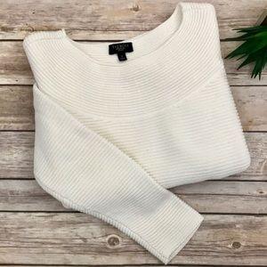 Talbots Petites Chunky Ribbed Knit Ivory Sweater🌺